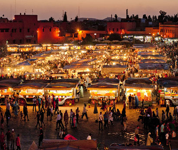 Decouverte a Marrakech Jamaa El Fna